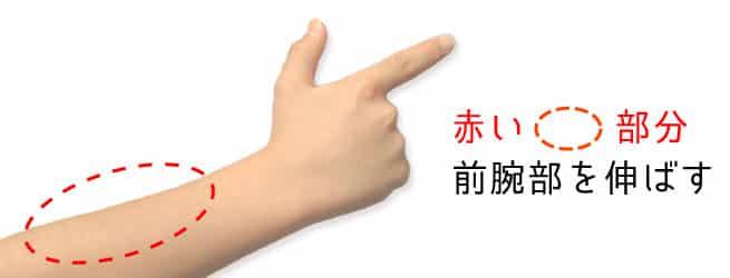 前腕部のストレッチが指を痛めない為に必要